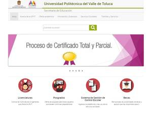 Universidad Politécnica del Valle de Toluca Screenshot