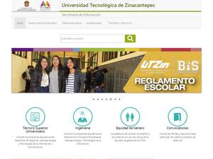 Universidad Tecnológica de Zinacantepec's Website Screenshot