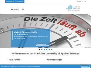 Frankfurt University of Applied Sciences's Website Screenshot