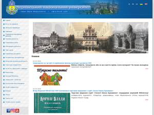 Chernivtsi National University's Website Screenshot