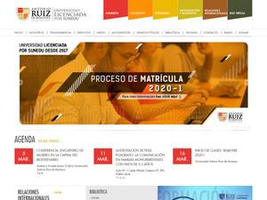 Universidad Antonio Ruiz de Montoya's Website Screenshot
