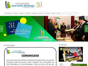 Universidad José Carlos Mariátegui's Website Screenshot