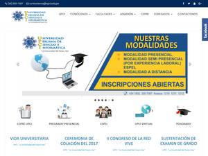 Universidad Peruana de Ciencias e Informatica's Website Screenshot