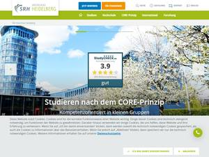 SRH Hochschule Heidelberg's Website Screenshot