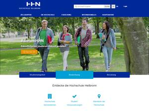 Hochschule Heilbronn's Website Screenshot
