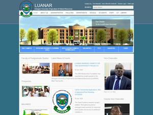 Lilongwe University of Agriculture and Natural Resources's Website Screenshot