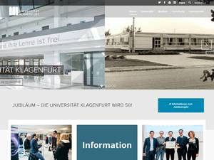 Alpen-Adria-Universität Klagenfurt's Website Screenshot