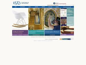 Escola Superior de Artes Decorativas's Website Screenshot
