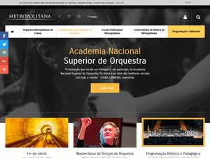 Academia Nacional Superior de Orquestra's Website Screenshot