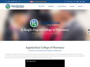 Appalachian College of Pharmacy's Website Screenshot