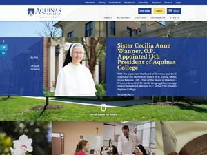 Aquinas College, Tennessee's Website Screenshot
