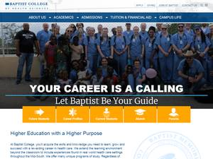 Baptist Memorial College of Health Sciences's Website Screenshot