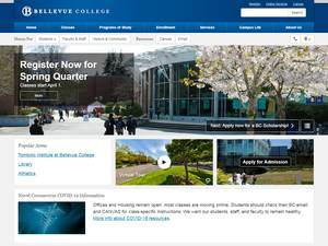 Bellevue College's Website Screenshot