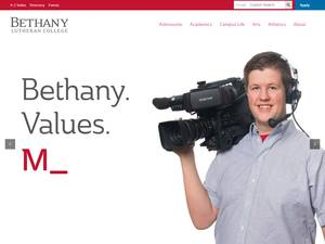 Bethany Lutheran College's Website Screenshot