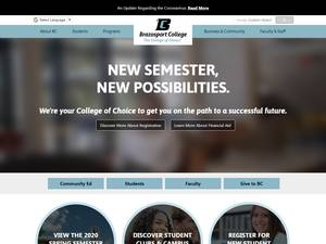 Brazosport College's Website Screenshot