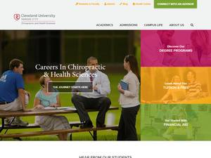 Cleveland University-Kansas City's Website Screenshot