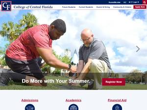 College of Central Florida's Website Screenshot