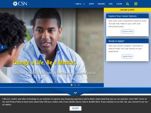 College of Southern Nevada's Website Screenshot