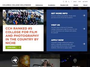 Columbia College Hollywood's Website Screenshot