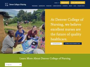 Denver College of Nursing's Website Screenshot