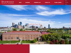 Dunwoody College of Technology's Website Screenshot