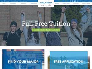Finlandia University's Website Screenshot