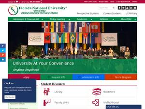 Florida National University's Website Screenshot