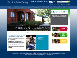 Gordon State College's Website Screenshot
