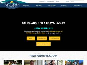 Gulf Coast State College's Website Screenshot