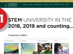 Harrisburg University of Science and Technology's Website Screenshot