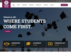 Jamestown Business College's Website Screenshot
