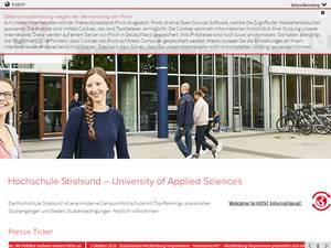 Hochschule Stralsund's Website Screenshot