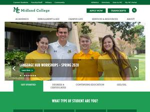 Midland College Screenshot