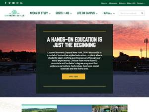 Morrisville State College's Website Screenshot