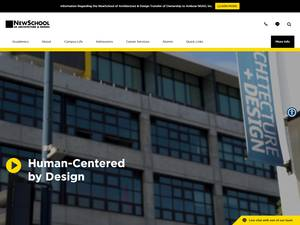 NewSchool of Architecture and Design's Website Screenshot