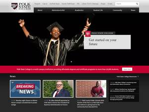 Polk State College's Website Screenshot