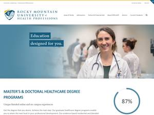 Rocky Mountain University of Health Professions's Website Screenshot