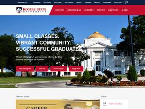 Rogers State University's Website Screenshot