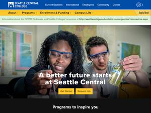 Seattle Central College's Website Screenshot