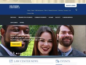 Southern University Law Center's Website Screenshot