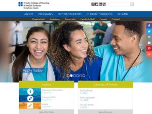 Trinity College of Nursing & Health Sciences's Website Screenshot