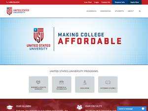 United States University's Website Screenshot