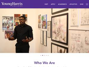Young Harris College's Website Screenshot