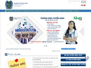 Baria Vungtau University's Website Screenshot