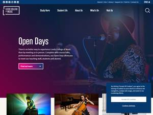 Leeds College of Music's Website Screenshot
