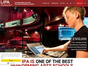 Liverpool Institute for Performing Arts Screenshot