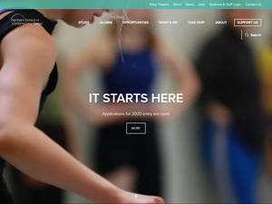 Northern School of Contemporary Dance's Website Screenshot