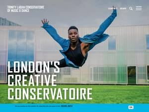Trinity Laban Conservatoire of Music and Dance's Website Screenshot