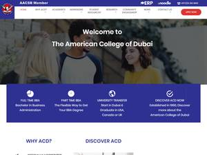 American College of Dubai's Website Screenshot