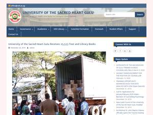 University of the Sacred Heart Gulu's Website Screenshot